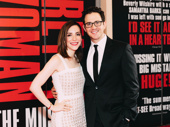 Santino Fontana, who will soon be seen on stage in Tootsie arrives with his wife, Jessica.
