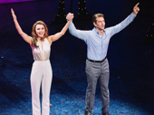 Pretty Woman stars Samantha Barks and Andy Karl take it all in.