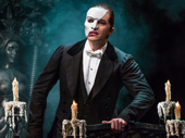 Ben Crawford as The Phantom in The Phantom of the Opera.