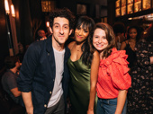 Nicolette Robinson gets together with her fellow Waitress pals Adam Shapiro and Katie Lowes.