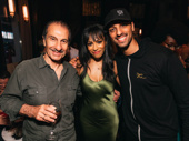 The Band's Visit star Sasson Gabay and Ari'el Stachel hang with Nicolette Robinson on her big night.