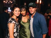 Nicolette Robinson takes a photo with theater couple Phillipa Soo and Steven Pasquale.