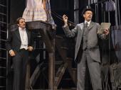 Jason Butler Harner as Edmond Rostand, Dylan Baker as Constant Coquelin and Janet McTeer as Sarah Bernhardt in Bernhardt/Hamlet.