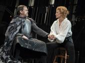 Dylan Baker as Constant Coquelin and Janet McTeer as Sarah Bernhardt in Bernhardt/Hamlet.