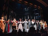 The cast of Bernhardt/Hamlet bows on Broadway.