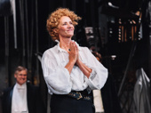 Bernhardt/Hamlet's Janet McTeer takes it all in at curtain call.