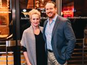 Tony winner Katie Finneran with husband, actor Darren Goldstein.