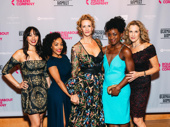 The ladies of Bernhardt/Hamlet: Jenelle Chu, Brittany Bradford, Janet McTeer, Ito Aghayere, and Kate Levy.