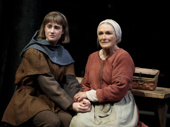 Grace Van Patten as Joan Arc and Glenn Close as Isabelle Arc in Mother of the Maid.