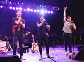 """Former Glee co-stars Grant Gustin and Darren Criss and original Dear Evan Hansen cast member Will Roland perform """"Sincerely Me."""""""
