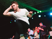 Broadway alum Matthew Morrison shows off his dance moves.