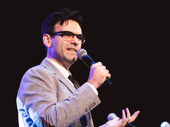 Be More Chill's songwriter Joe Iconis welcomes the cast to the stage.