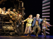 Amanda Rose as Mrs. Bucket, James Young as Grandpa Joe, Rueby Wood as Charlie & the cast of the national tour of Roald Dahl's Charlie and the Chocolate Factory