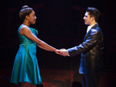 Brianna-Marie Bell (Jane) & Joey Barreiro (Calogero) in the national tour of A Bronx Tale, photo by Joan Marcus
