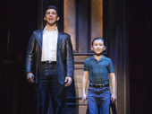 Joey Barreiro (Calogero) & Frankie Leoni (Young C) in the national tour of A Bronx Tale, photo by Joan Marcus