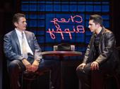 Joe Barbara (Sonny) & Joey Barreiro (Calogero) in the national tour of A Bronx Tale, photo by Joan Marcus