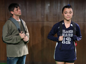 Raviv Ullman as Rory and Midori Francis as Kyeoung in Usual Girls.
