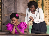 MaameYaa Boafo as Paulina and Zenzi Williams as Eloise Amponsah in School Girls; Or, The African Mean Girls Play.