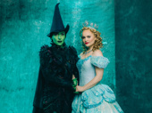 Jessica Vosk as Elphaba and Amanda Jane Cooper as Glinda.