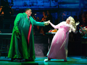 Michael James Leslie as Audrey 2 and Megan Hilty as Audrey