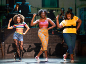 Allison Semmes as Chiffon, Amber Iman as Crystal, and Amma Osei as Ronnette