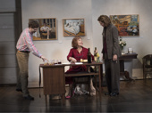 Michael Cera as Don Bowman, Elaine May as Gladys Green and Joan Allen as Ellen Fine in The Waverly Gallery.