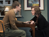 Lucas Hedges as Daniel Reed and Elaine May as Gladys Green in The Waverly Gallery.