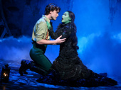 Ryan McCartan as Fiyero and Jessica Vosk as Elphaba in Wicked.