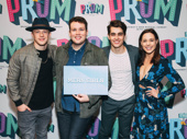 Mean Girls cast members Kevin Csolak, Grey Henson, Kyle Selig and Erika Henningsen support Casey Nicholaw who is their director and choreographer.