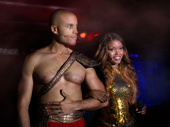 Marc Brailsford as Marc Antony and Nya as Cleopatra in Cleopatra.