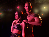 Sydney Parra and Christian Brailsford in Cleopatra.