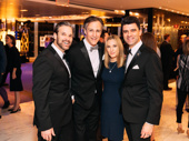Previous Phantoms Hugh Panaro and Howard McGillin and current Phantom, Ben Crawford, with Imogen Lloyd Webber.