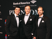 The Phantom of the Opera's current Phantom, Ben Crawford, with Broadway's longest-running Phantom, Howard McGillin, and the 25th anniversary Phantom, Hugh Panaro.