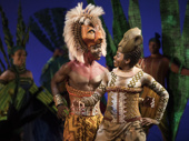 Bradley Gibson as Simba and Adrienne Walker as Nala in The Lion King.