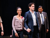 American Son stars Kerry Washington and Steven Pasquale take it all in.