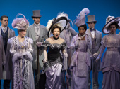 Laura Benanti as Eliza Doolittle and the cast of My Fair Lady.