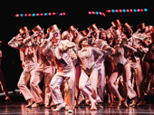 """The cast of City Center's A Chorus Line sings """"One."""""""
