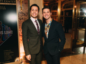 A Chorus Line cast members Wesley Ian Cappiello and Callan Bergmann are all smiles.