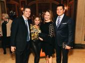 Composer Tom Kitt, stage fave Daphne Rubin-Vega, Rita Pietropinto and CNBC anchor Carl Quintanilla get together.