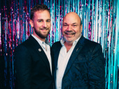 The Prom's wig supervisor Josh Marquette and director/choreographer Casey Nicholaw, who are also partners.