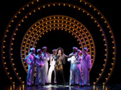 Stephanie J. Block as Star and the cast of The Cher Show.