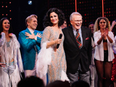 The Cher Show Stephanie J. Block and costume designer Bob Mackie take it all in at curtain call.