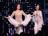 The Cher Show star Stephanie J. Block takes it all in on opening night.