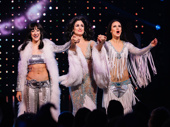 Micaela Diamond, Stephanie J. Block and Teal Wicks as Cher bow on opening at The Cher Show.