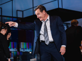 Network star Bryan Cranston acknowledges the audience during curtain call.