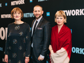 Tony-winning producer Lisa Burger and Tim Levy with National Theatre's Chief Operating Officer Liz Fosbury.