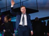 Network star Bryan Cranston bows on opening night.