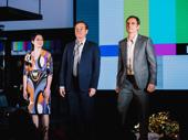 Network's Tatiana Maslany, Bryan Cranston and Tony Goldwyn at curtain call.