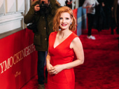 Oscar nominee Jessica Chastain steps out for opening night of To Kill a Mockingbird.
