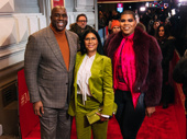 Earvin Magic Johnson, Cookie Johnson and EJ Johnson get together.
